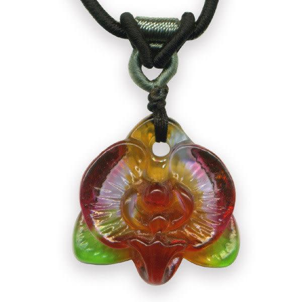 鹿港窯~居家開運水晶琉璃項鍊~蕙質蘭心 附精美包裝◆免運費送到家◆