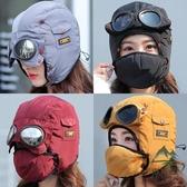 防風面罩女冬季戶外騎車滑雪護臉防寒加絨頭套【步行者戶外生活館】