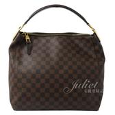 茱麗葉精品 二手精品【9.2成新】Louis Vuitton LV N41184 Portobello PM 棋盤格紋仕女肩背包