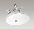 【麗室衛浴】美國 KOHLER Caxton 橢圓下崁盆 K-2211X-0 尺寸540x438 mm