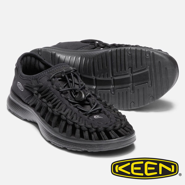 【KEEN 美國】女 UNEEK O2 拉繩涼鞋『黑』1018723 健行.涼鞋.自行車.溯溪.健走.海邊.沙灘鞋.戶外.露營