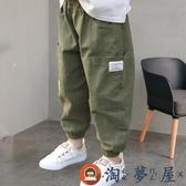 男童長褲哈倫褲夏薄款兒童洋氣棉麻寬鬆潮流【淘夢屋】