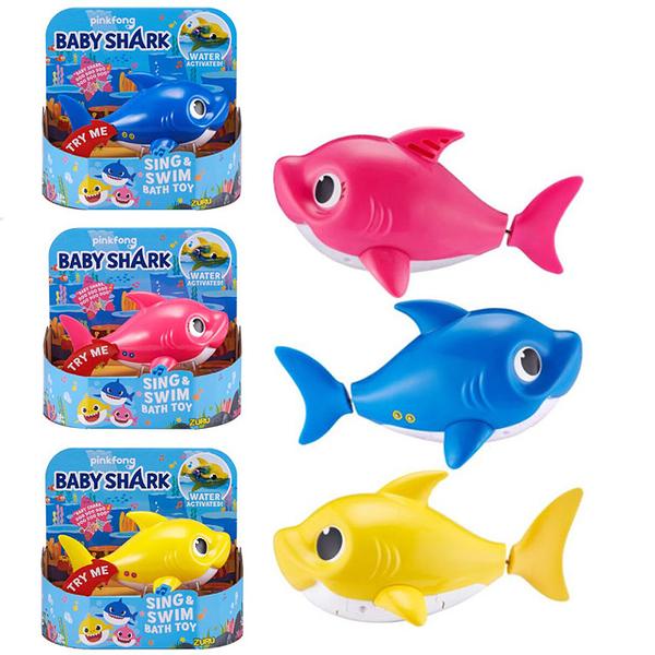BABY SHARK鯊魚家族悠遊系列 藍色 黃色 粉色 3款1組