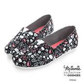 Disney 輕便俏皮~滿版米妮休閒懶人鞋-黑