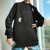 毛衣男 冬季男士針織衫潮流寬鬆毛衣半高領韓版線衣ins超火的chic學院風 米蘭街頭