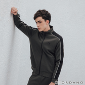 【GIORDANO】男裝G-MOTION品牌LOGO運動外套 - 67 雪花深碳綠