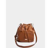 真皮包包-R&BB牛皮*輕巧多WAY束口水桶包 可手提&斜肩背(附長&短背帶)-棕色