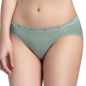 思薇爾-有氧森活系列M-XL蕾絲低腰三角內褲(光譜綠)