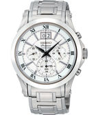 SEIKO 精工 Premier 大日期計時手錶-銀 7T04-0AA0S