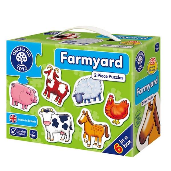 【英國 Orchard Toys】第一組拼圖-快樂農場 OT-202