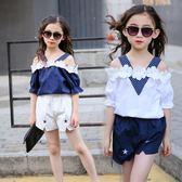 女童夏裝套裝新款韓版潮夏季童裝兒童純棉運動休閒9-11歲女孩