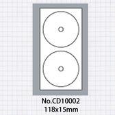 (5包)OGI 12cm光碟標籤貼紙,內徑15mm,50張共100枚No.C10002 No.CD10002 標籤貼紙