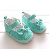 勾花蝴蝶結魔鬼黏貼公主鞋  軟膠底學步鞋.童鞋.室內鞋  橘魔法現貨 嬰兒 兒童 小童 女童