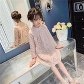 女童洋裝蕾絲連身裙秋裝2019新款兒童小女孩秋款大童秋季公主裙子洋氣 PA9425『男人範』