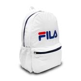 Fila 後背包 Logo Backpack 白 藍 男女款 運動休閒 【PUMP306】 BPT9001WT