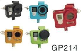 【SJCAM台灣唯一專門店】新款CNC鋁合金一體成型狗籠保護框套裝,適合GoPro Hero 4/3+/3
