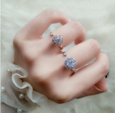 戒指-純銀戒指會轉動模擬鑽戒時來運轉招財旋轉指環 東川崎町