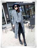 SHINE KOREA 秋冬時尚披肩翻領顯瘦毛衣外套