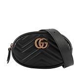 【GUCCI】GG Marmont 山形紋皮革腰包(黑色) 476434 DSVRT 1000