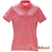 【wildland 荒野】女 涼感抗UV條紋POLO上衣『蜜粉紅』0A71601 上衣 休閒 戶外 登山 吸濕 排汗 條紋