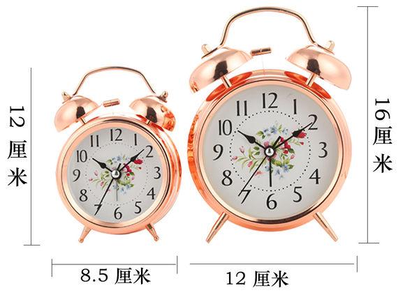 床頭時尚學生懶人鬧鐘 創意靜音鬧錶帶夜光超大鈴聲兒童金屬時鐘【慶新年全館免運】