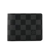 【LV】黑灰 棋盤格 對開交叉 短夾 N62663 M53750 LV23000181