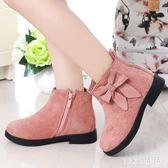 兒童短靴 女童靴子單靴大童寶寶馬丁短靴潮韓版公主英倫風 nm8831【VIKI菈菈】
