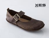 XES 瘋馬皮環扣真皮休閒鞋 舒適好穿 咖啡色 女鞋