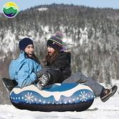 現貨 充氣滑雪圈PVC雪橇耐磨耐寒PVC充氣滑雪管滑雪板 韓美e站