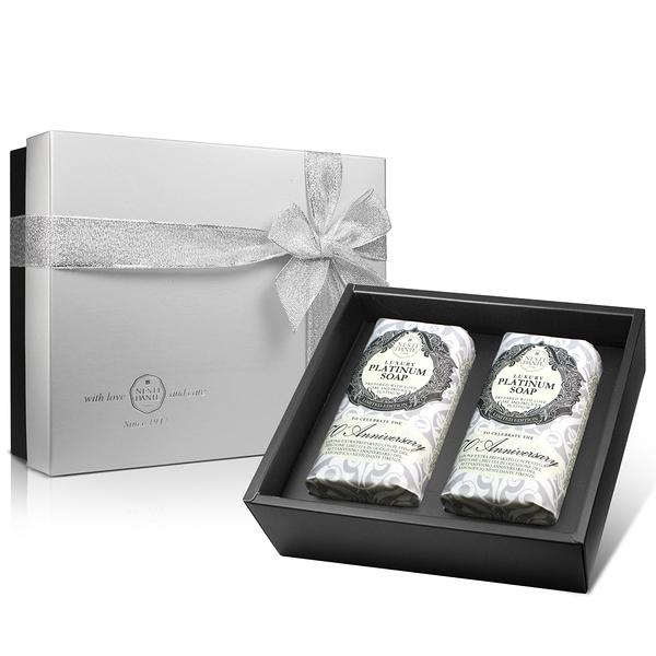 Nesti Dante 義大利手工皂-鉑金菁萃皂禮盒(250g×2入)【ZZshopping購物網】