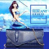 新款韓版女士斜挎大容量鱷魚紋宴會手拿包Eb15220『東京衣社』