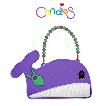 【Candies】大嘴鯨魚晚宴包(紫)-IPhone 5/5S/5C/SE