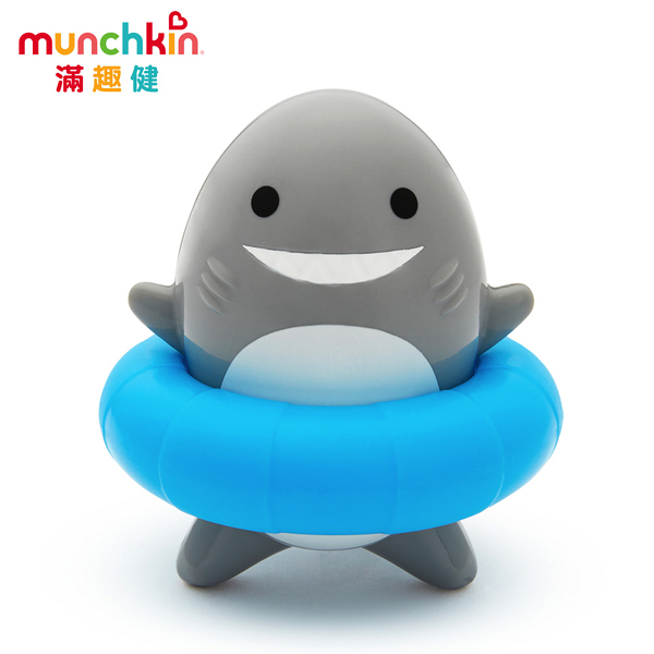 munchkin滿趣健-鯊魚轉轉樂洗澡玩具