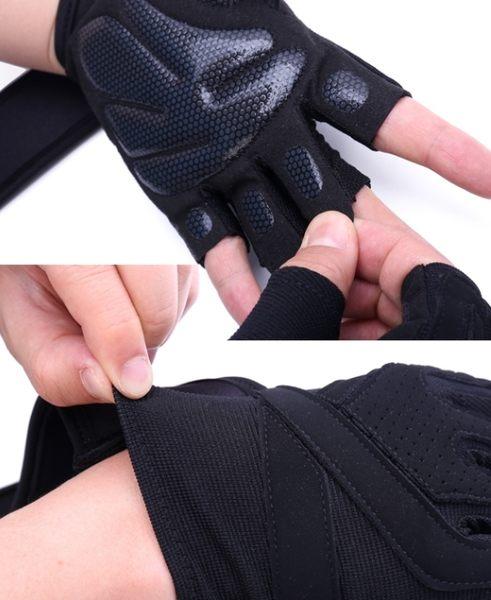 KHUITEN 熱銷進階款 矽膠防滑耐用舉重手套 S號(黑色)(升級款)