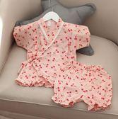 兒童睡衣中小女童夏薄和服親子裝母女裝gogo購