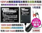 【久大電池】台灣製 12V1A 鋰鐵電池充電器 全自動智慧型充電器 可充13.2V1A~14A 機車鋰鐵電池