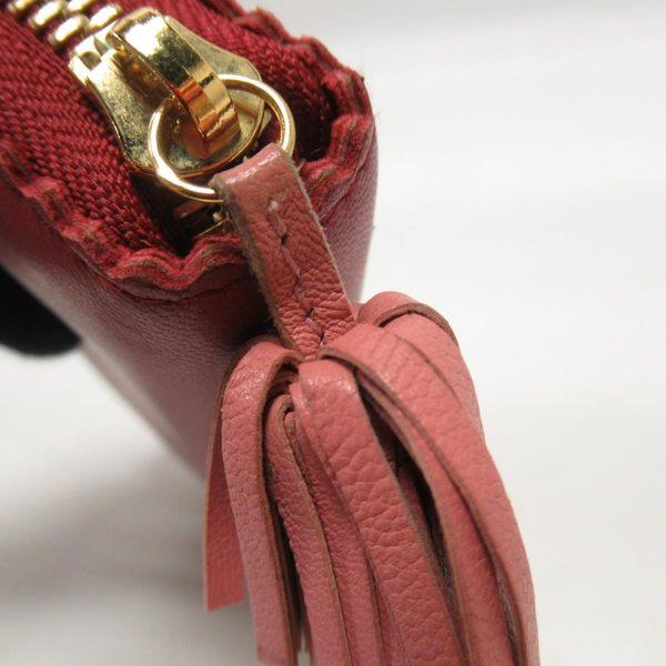 LOEWE 羅威 紅色小牛皮拉鍊式ㄇ字長夾 Amazona Zip Around Long Wallet 【BRAND OFF】