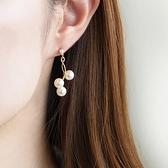 [現貨] itam 日本製 珍珠點點鈦柱耳環/耳針 (P597)