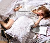 睡衣女秋新款2018潮款冰絲大碼睡衣女胖mm200斤秋純棉 寬鬆開衫 鹿角巷