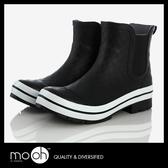 雨鞋 短筒登山雨鞋 女士防水歐美格紋低筒耐磨登山雨靴  mo.oh (歐美鞋款)