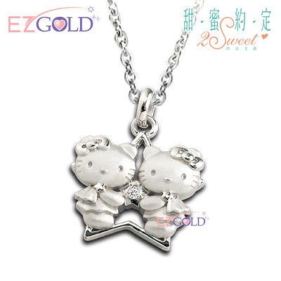 Hello Kitty凱蒂貓-雙子座(5/21~6/21)-星座銀飾墜子