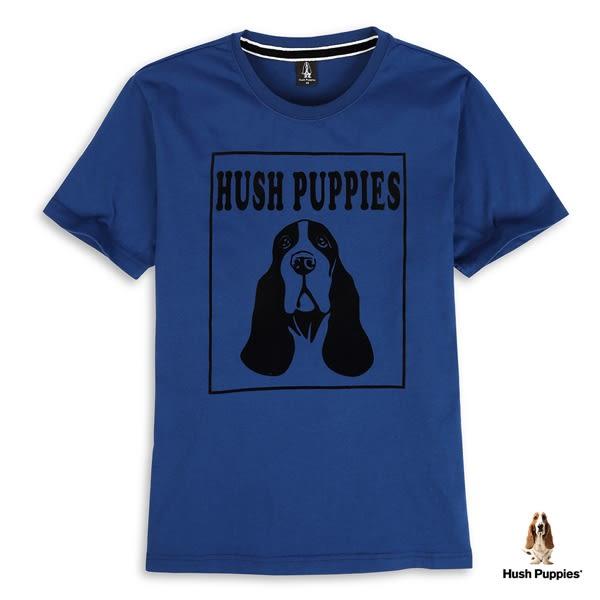 Hush Puppies T恤 男裝植絨狗頭印花棉質短袖T