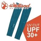 【Wildland 荒野 中性開洞抗UV透氣袖套《藍綠》】W1809/春夏款/抗UV/防曬袖套