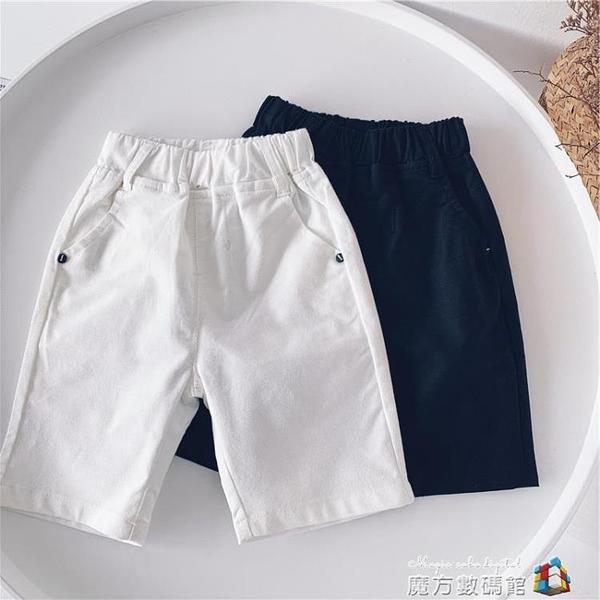 小杰家夏新款 男童純色百搭休閒褲兒童簡約洋氣2色短褲潮 魔方數碼