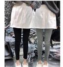 打底褲女假兩件褲裙外穿高腰薄款緊身小腳黑色鉛筆褲 格蘭小舖