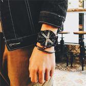 手錶男學生韓版簡約時尚潮流bigbang防水休閒個性黑白權志龍同款igo   酷男精品館