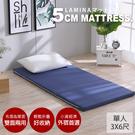 雅蓆兩用床墊;單人3X6尺;5cm【圓點普普-藍】LAMINA樂米娜;MIT台灣製造