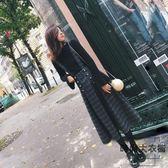 長裙套裝大碼女裝兩件套胖mm顯瘦背帶長裙【時尚大衣櫥】