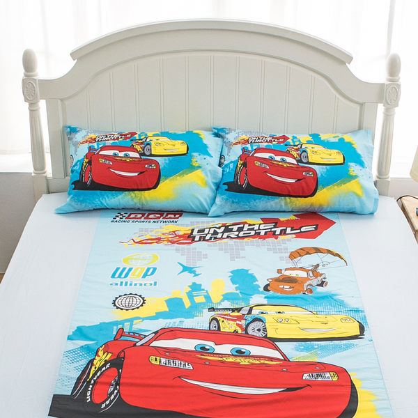 床包 / 單人【Cars閃電麥坤旅行篇】含一件枕套 混紡精梳棉 戀家小舖台灣製ABE101