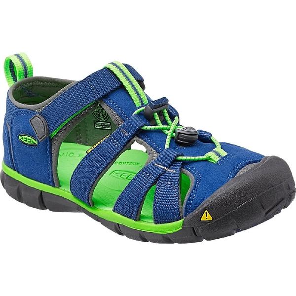 [好也戶外] KEEN SEACAMP II CNX兒童護趾涼鞋-藍綠 No.1014479